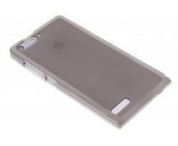 Grijs hard siliconen hoesje Huawei Ascend G6