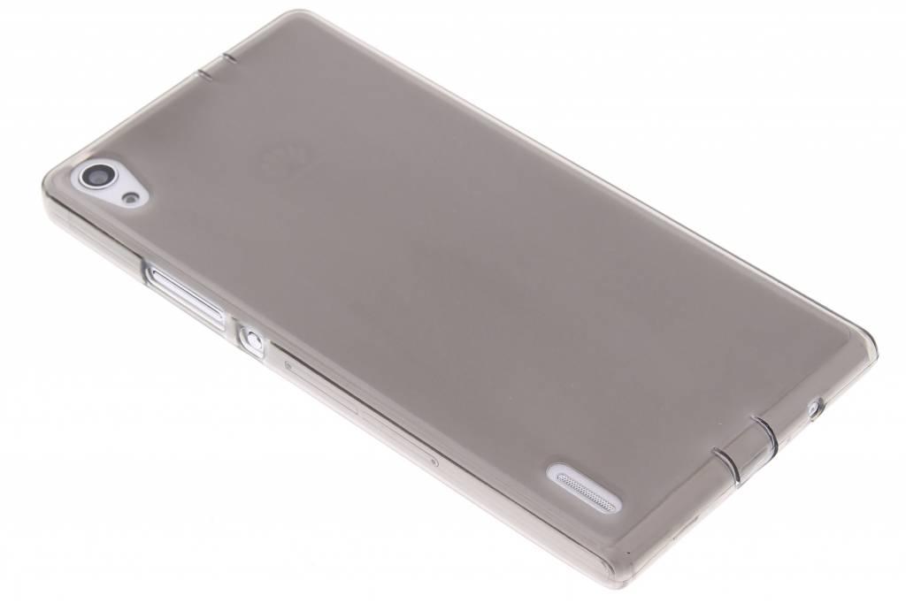 Grijs hard siliconen hoesje voor de Huawei Ascend P7