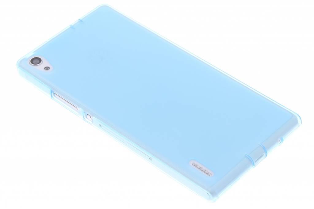 Turquoise hard siliconen hoesje voor de Huawei Ascend P7
