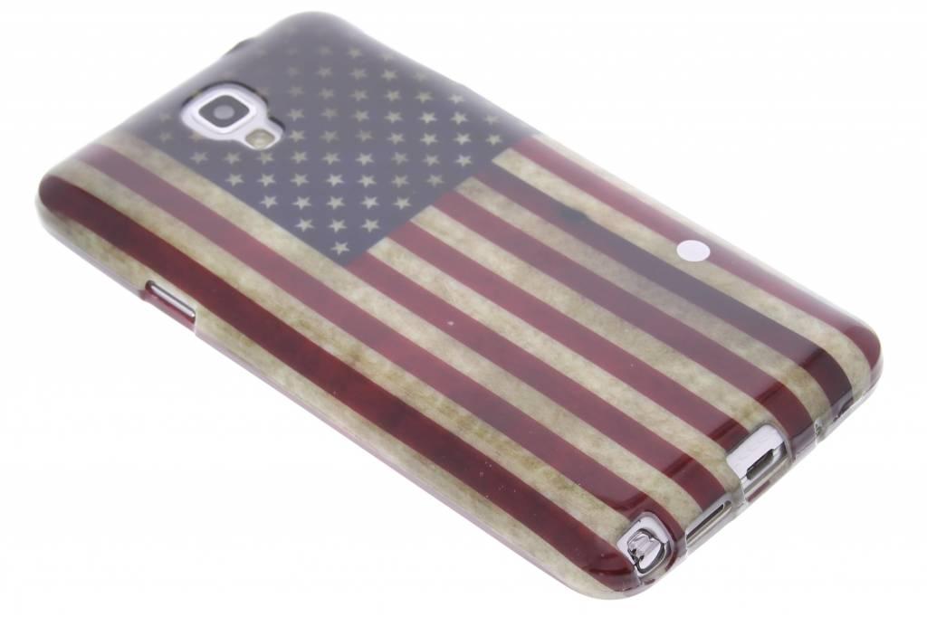 Amerikaanse vlag design TPU siliconen hoesje voor de Samsung Galaxy Note 3 Neo