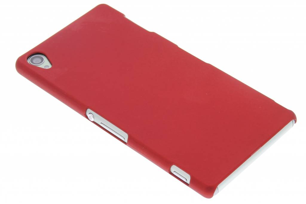 Rood effen hardcase hoesje voor de Sony Xperia Z3