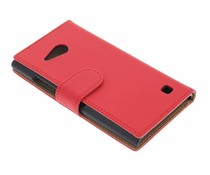 Rood effen booktype hoes Nokia Lumia 730 / 735