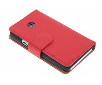 Rood effen booktype hoes Huawei Ascend Y330
