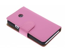 Roze effen booktype hoes Huawei Ascend Y330