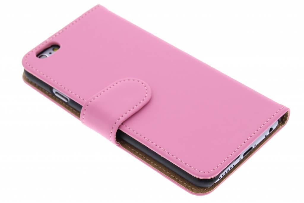 Roze effen booktype hoes voor de iPhone 6 / 6s