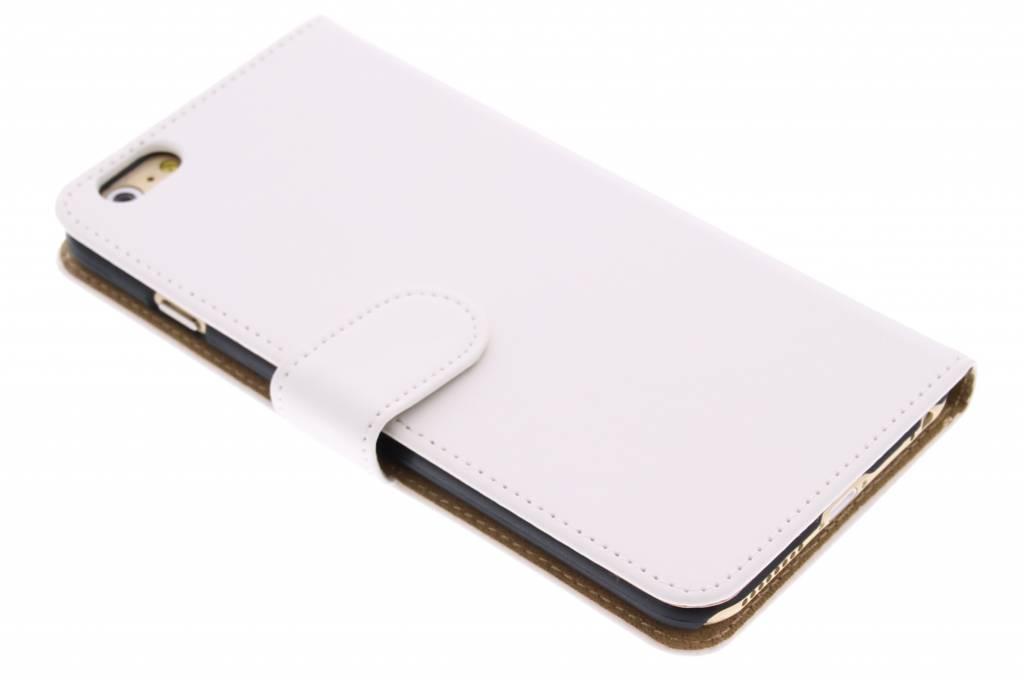 Witte effen booktype hoes voor de iPhone 6(s) Plus
