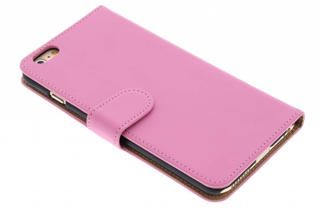 Roze effen booktype hoes voor de iPhone 6(s) Plus