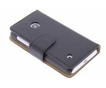 Zwart effen booktype hoes Nokia Lumia 530