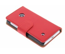 Rood effen booktype hoes Nokia Lumia 530