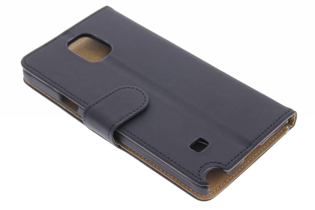 Zwarte effen booktype hoes voor de Samsung Galaxy Note 4