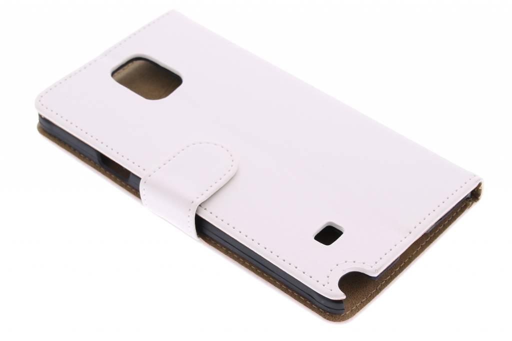 Witte effen booktype hoes voor de Samsung Galaxy Note 4