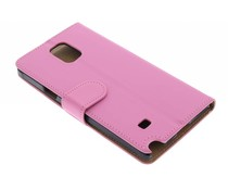 Roze effen booktype hoes Samsung Galaxy Note 4
