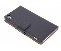 Zwart effen booktype hoes Sony Xperia Z2