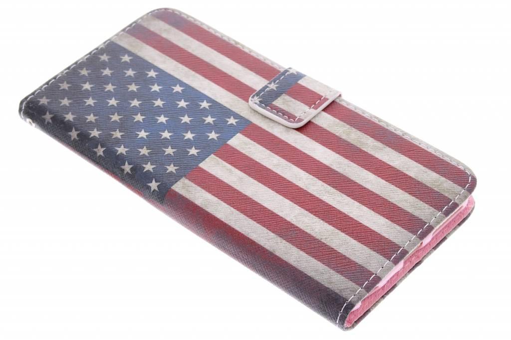 Amerikaanse vlag design TPU booktype hoes voor de iPhone 6(s) Plus
