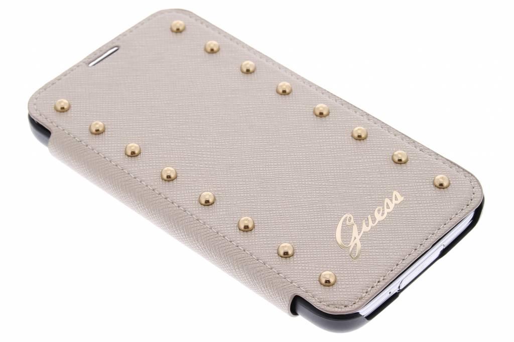 Guess Studded Folio Case voor de Samsung Galaxy S5 (Plus) / Neo - goud