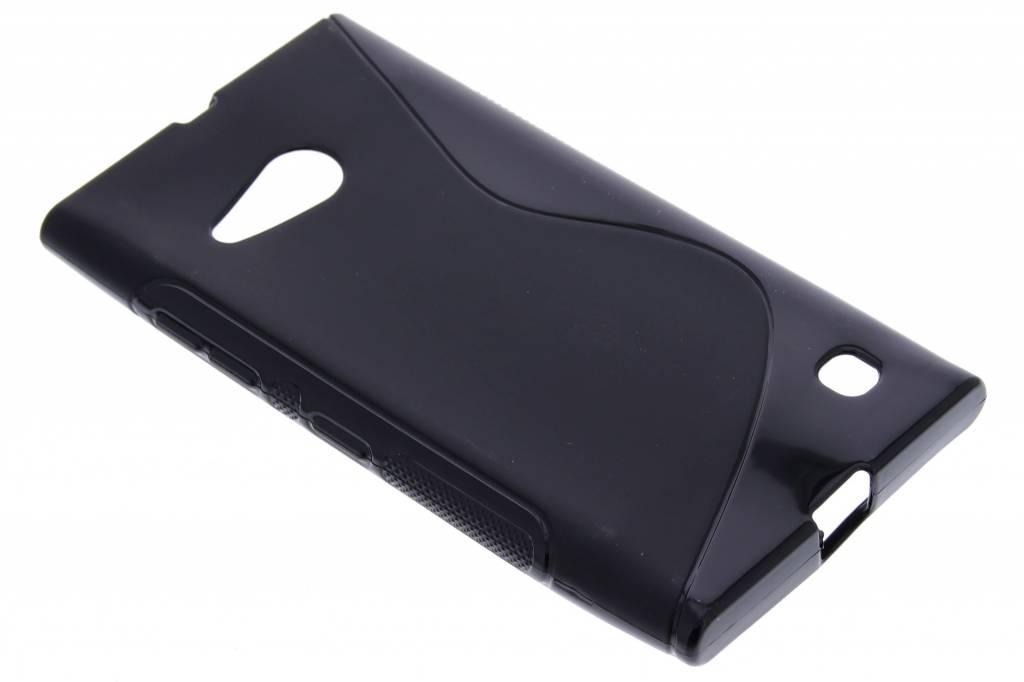 Zwart S-line TPU hoesje voor de Nokia Lumia 730-735