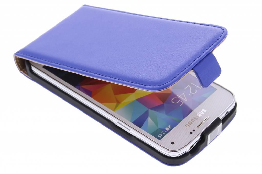 Blauwe luxe flipcase voor de Samsung Galaxy S5 Mini