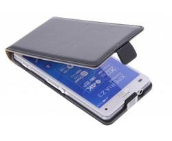 Zwart luxe flipcase Sony Xperia Z3 Compact