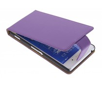 Paars classic flipcase Sony Xperia Z3