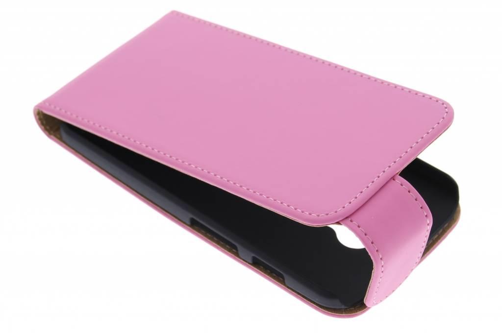 Roze classic flipcase voor de Motorola Moto X