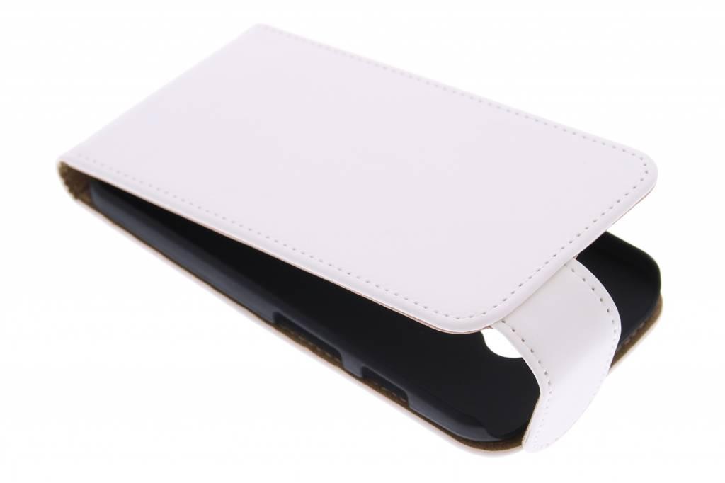 Witte classic flipcase voor de Motorola Moto X