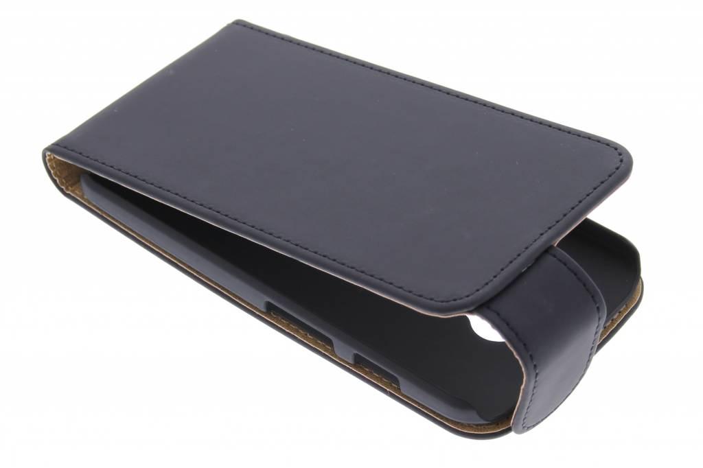Zwarte classic flipcase voor de Motorola Moto X