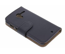 Zwart effen booktype hoes Motorola Moto X