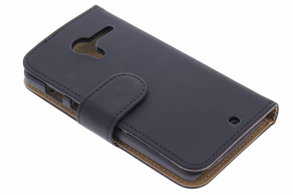 Zwarte effen booktype hoes voor de Motorola Moto X