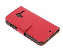 Rood effen booktype hoes Motorola Moto X