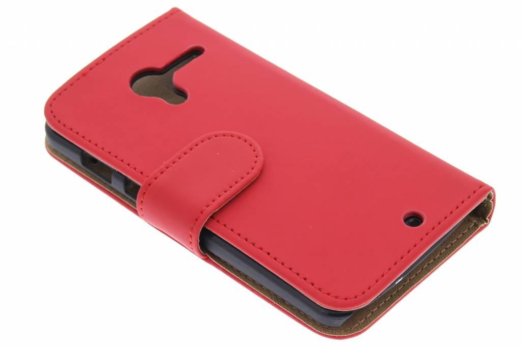 Rode effen booktype hoes voor de Motorola Moto X