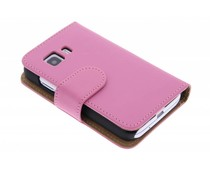 Roze effen booktype Samsung Galaxy Young 2