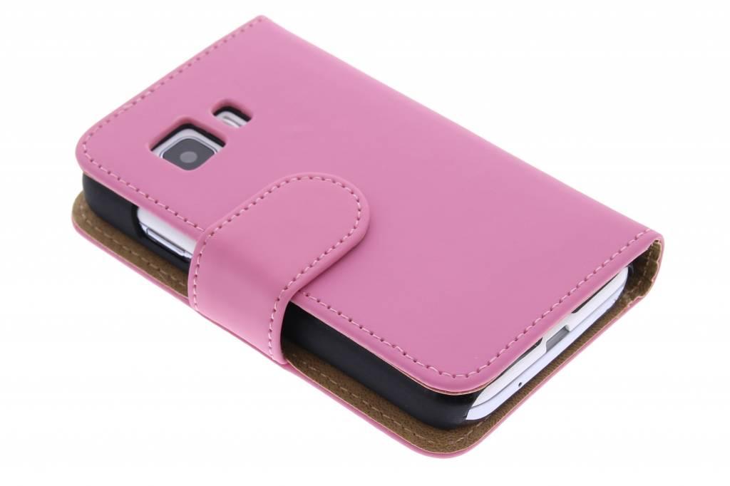 Roze effen booktype hoes voor de Samsung Galaxy Young 2