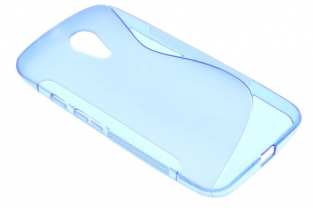 Blauw S-line TPU hoesje voor de Motorola Moto G 2nd Gen 2014