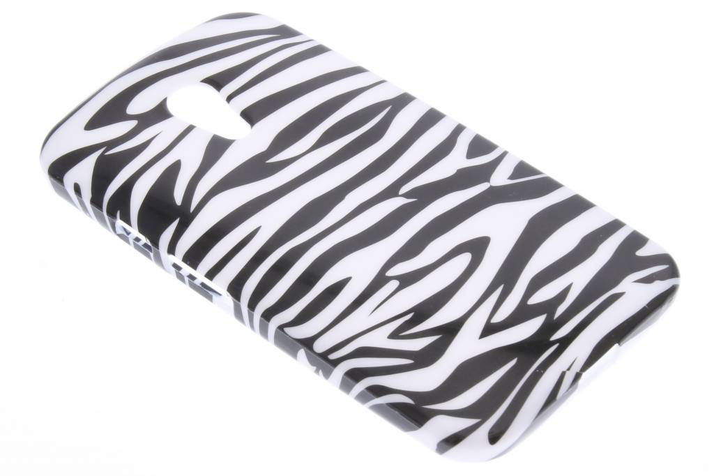 Zebra design TPU siliconen hoesje Motorola Moto G 2nd Gen 2014