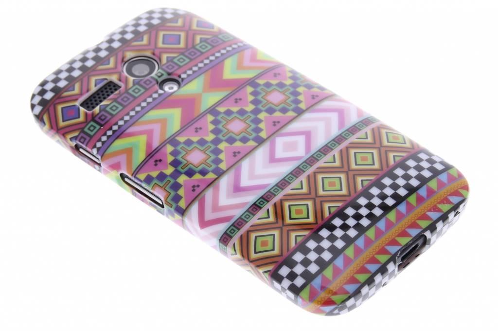 Aztec design TPU siliconen hoesje voor de Motorola Moto G