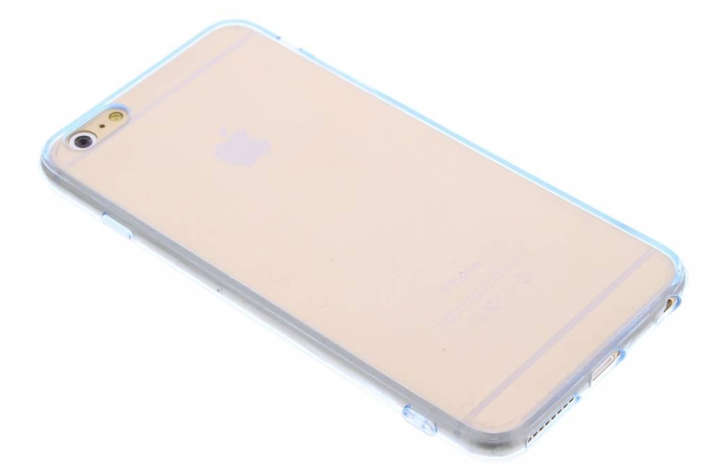 Blauw transparant TPU hardcase hoesje voor de iPhone 6(s) Plus