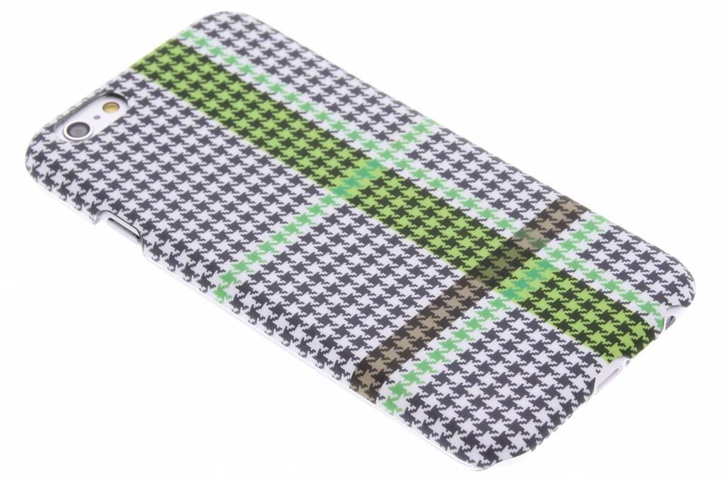 Pied de Poule design hardcase voor de iPhone 6 / 6s - groen