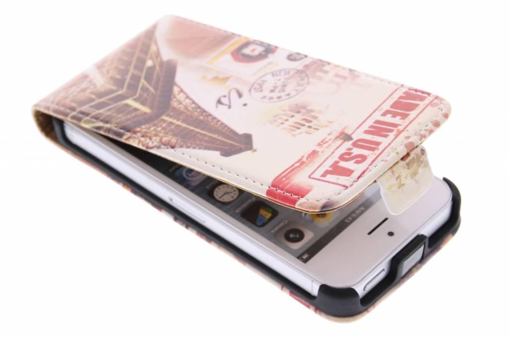 Eiffeltoren design flipcase voor de iPhone 5 / 5s / SE