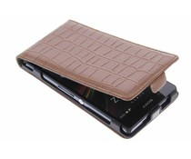 Bruin krokodil flipcase Sony Xperia Z