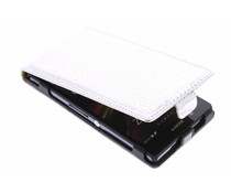 Zilver krokodil flipcase Sony Xperia Z