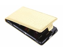 Goud krokodil flipcase Sony Xperia Z