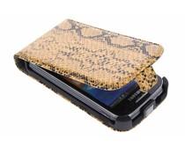Cognac slangenprint flipcase Samsung Galaxy Ace 2