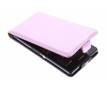 Roze metallic flipcase Sony Xperia Z
