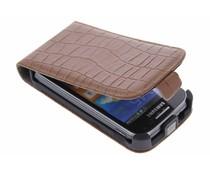 Bruin krokodil flipcase Samsung Galaxy Ace 2
