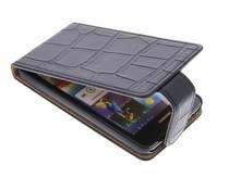 Zwart krokodil flipcase Huawei Ascend G510