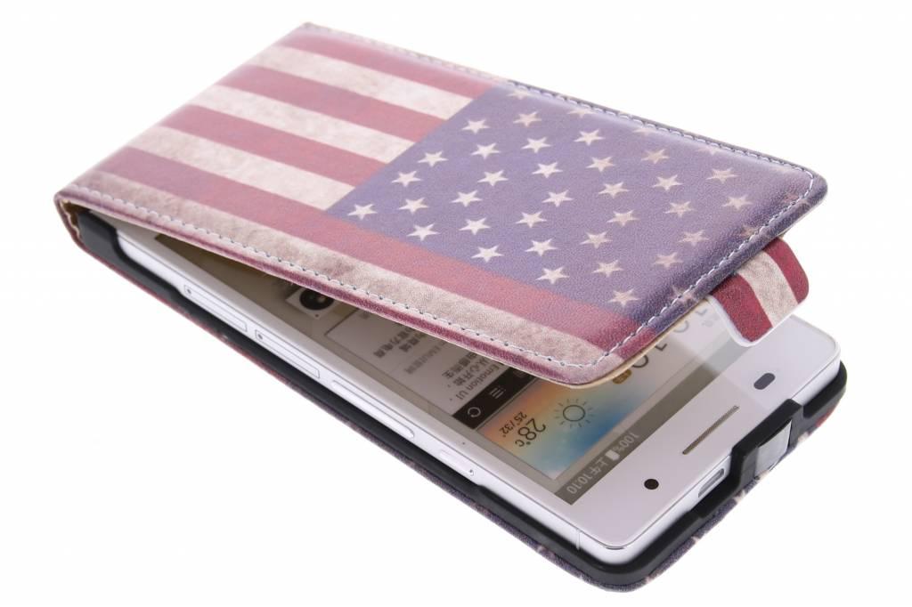 Amerikaanse vlag design flipcase Huawei Ascend P6 / P6s