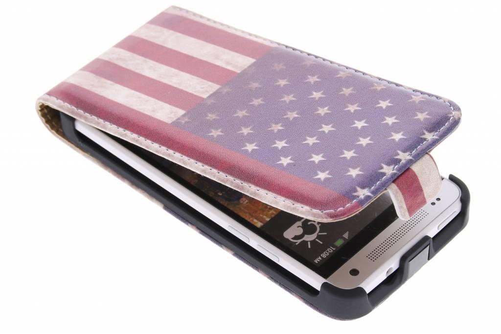 Amerikaanse vlag design flipcase HTC One Mini