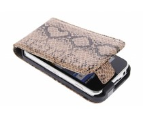 Bruin slangenprint flipcase Samsung Galaxy Ace