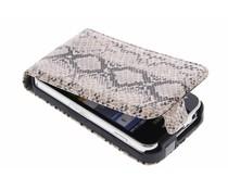 Beige slangenprint flipcase Samsung Galaxy Ace