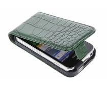 Groen krokodil flipcase Samsung Galaxy Ace